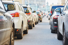 Traffic during the rush hour Stock Image