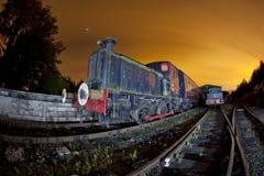 Train siding Stock Photo