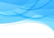 Transparent smooth blue waves background Stock Photos