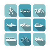 Transportation icons set Stock Photo