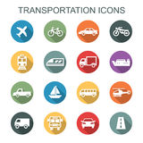 Transportation long shadow icons Stock Photo