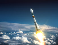 Transporteur Rocket Take Off Photographie stock