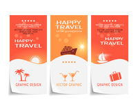 Travel banner poster sticker flyer ticket design Stock Photo