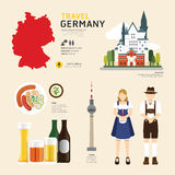 Travel Concept Germany Landmark Flat Icons Design .Vector Stock Photography