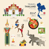 Travel Concept Thailand Landmark Flat Icons Design .Vector Stock Photos