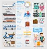 Travel planner infographics element. Stock Photo