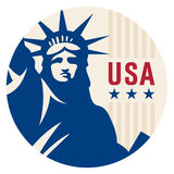 Travel sticker USA Royalty Free Stock Images