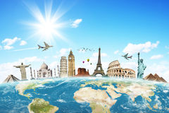Travel the world clouds concept Stock Photography