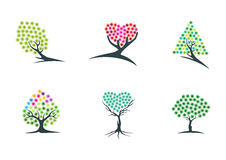 Tree,imagination,logo,dream,plant,icon,green,heart,hope,symbol,and nature hypnotherapy vector design Stock Photo