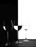 Trio in zwart-wit Stock Foto