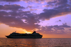 Tropical Cruise Ship Royalty Free Stock Photography