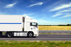 Truck with freight Royalty Free Stock Photos