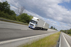 Truck haulage on country highway Stock Image