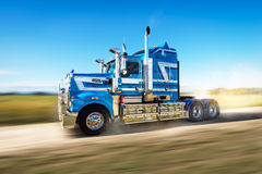 Truck on the road with speed blur Royalty Free Stock Images