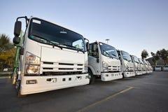 Trucks in a row Stock Photo