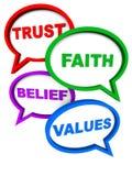 Trust faith belief values Stock Photo