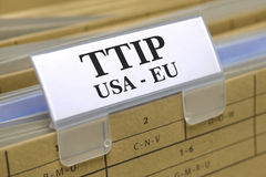 TTIP free trade agreement Royalty Free Stock Images
