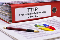 TTIP Transatlantic trade and investment partnership Royalty Free Stock Images