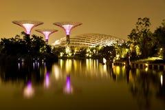 Tuinen door de Baai Singapore Stock Foto's