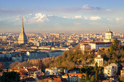 Turin (Torino), landscape with Mole Antonelliana Royalty Free Stock Images