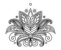 Turkish or persian floral design Royalty Free Stock Images
