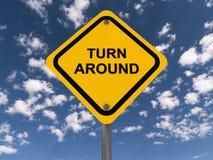 Turn around sign Stock Image