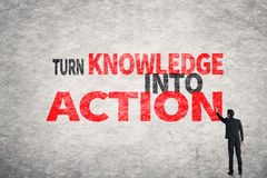 Turn Knowledge Into Action Royalty Free Stock Image