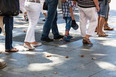 Turn on sidewalk Royalty Free Stock Image
