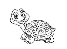 Turtle fun coloring pages Royalty Free Stock Photos