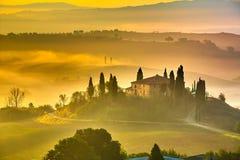 Tuscany at early morning Royalty Free Stock Image