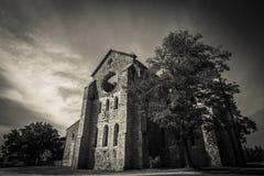 Tuscany gothic abbey Royalty Free Stock Photo