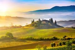 Tuscany at sunrise Royalty Free Stock Photography