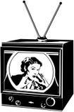 TV Lady Royalty Free Stock Image