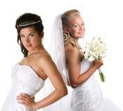 Two beautiful brides Stock Photo