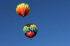 Two hot air balloons Stock Images