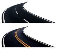 Two roads with turn. Stock Image