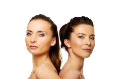 Two sisters with make up. Royalty Free Stock Image