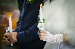 Two Wedding candles Royalty Free Stock Photography