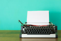 Typewriter with blank page Stock Image