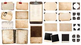 Uitstekende document bladen, boek, oude fotokaders en hoeken, antiqu Royalty-vrije Stock Fotografie