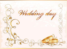 Uitstekende huwelijkskaart Stock Foto