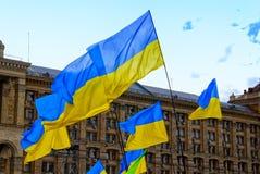 Ukraine flags Royalty Free Stock Photography