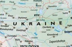 Ukraine map Stock Images