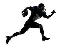 silueta corriente del hombre del jugador de fútbol americano Fotos de archivo