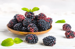 Вunch of wild berries and mint Royalty Free Stock Photography