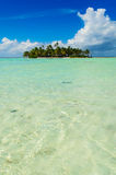Uninhabited island in the Pacific Royalty Free Stock Photography