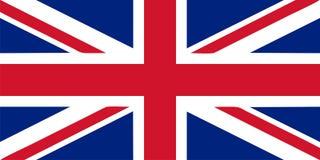 Union Jack - UK flag vector illustration Royalty Free Stock Photo