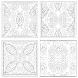 Unique coloring book square page set for adults Stock Image