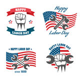 United States Labor Day national holiday vector Royalty Free Stock Photos