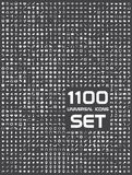 Universal set of 1100 icons Royalty Free Stock Photos